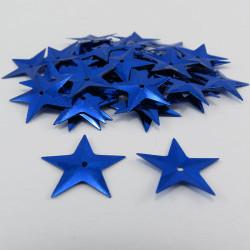 Sequin étoile - Bleu - 14mm