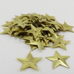 Sequin étoile - Doré - 14mm