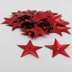 Sequin étoile - Rouge - 14mm