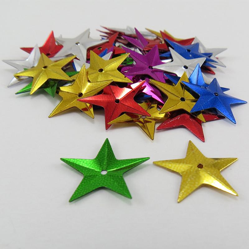 Sequin étoile - Multicolore - 14m