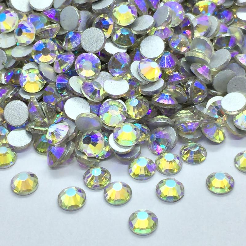 Strass en verre à coller - Irisé nacré - 5mm