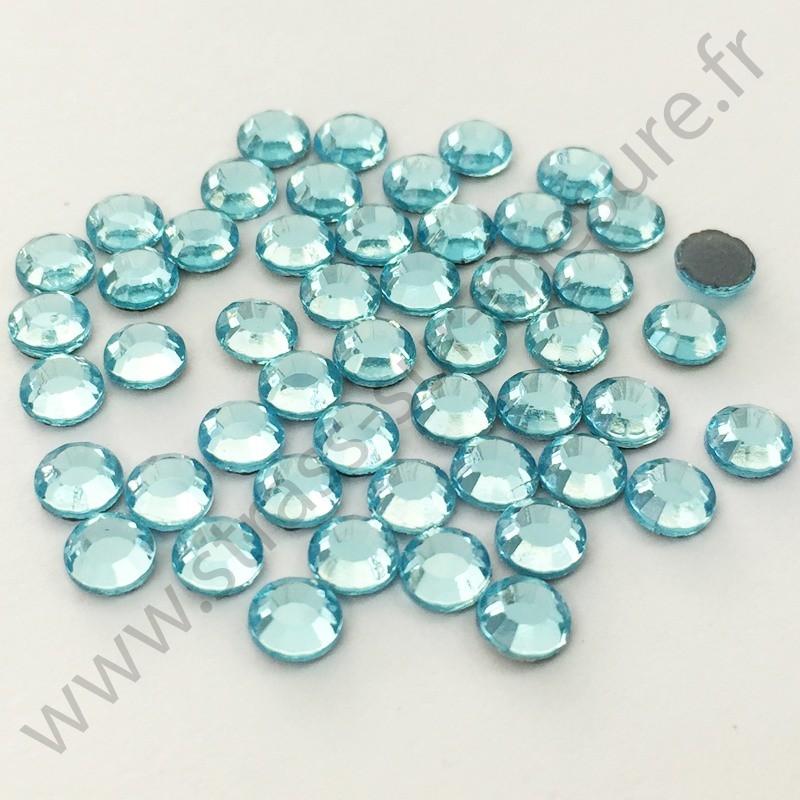 Strass thermocollant en verre DMC - Bleu lagon - 2mm à 6mm