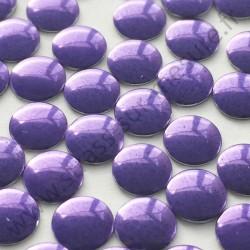 Strass thermocollant en métal rond plat - Violet - 2mm à 6mm - détail