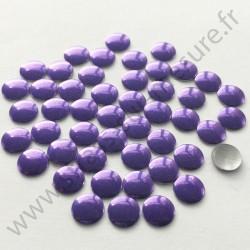 Strass thermocollant en métal rond plat - Violet - 2mm à 6mm