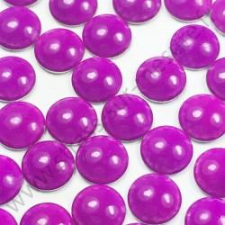 Strass thermocollant en métal rond bombé - Violet fluo - 2mm à 6mm - détail
