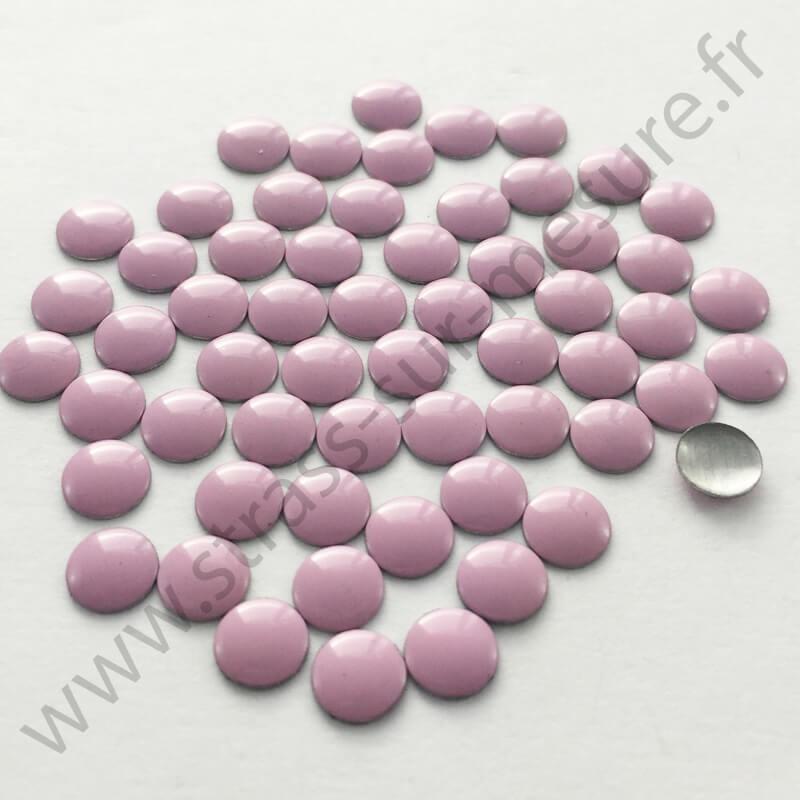 Strass thermocollant en métal rond plat - Rose clair - 2mm à 6mm