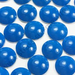 Strass thermocollant en métal rond bombé - Bleu fluo - 2mm à 6mm - détail