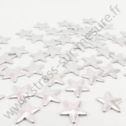 Strass thermocollant en métal étoile - Argent