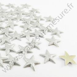 Strass thermocollant en métal étoile - Argent nacré