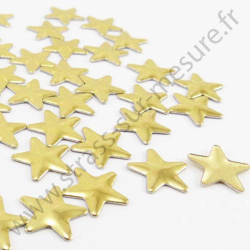 Strass thermocollant en métal étoile - Doré