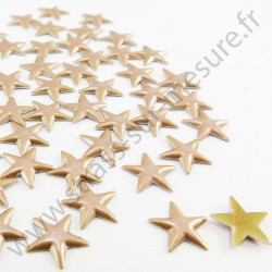 Strass thermocollant en métal étoile - Bronze nacré