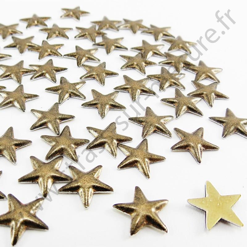 Strass thermocollant en métal étoile - Métal bronze nacré