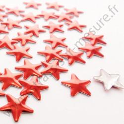 Strass thermocollant en métal étoile - Rouge