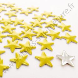 Strass thermocollant en métal étoile - Jaune