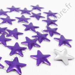 Strass thermocollant en métal étoile - Violet