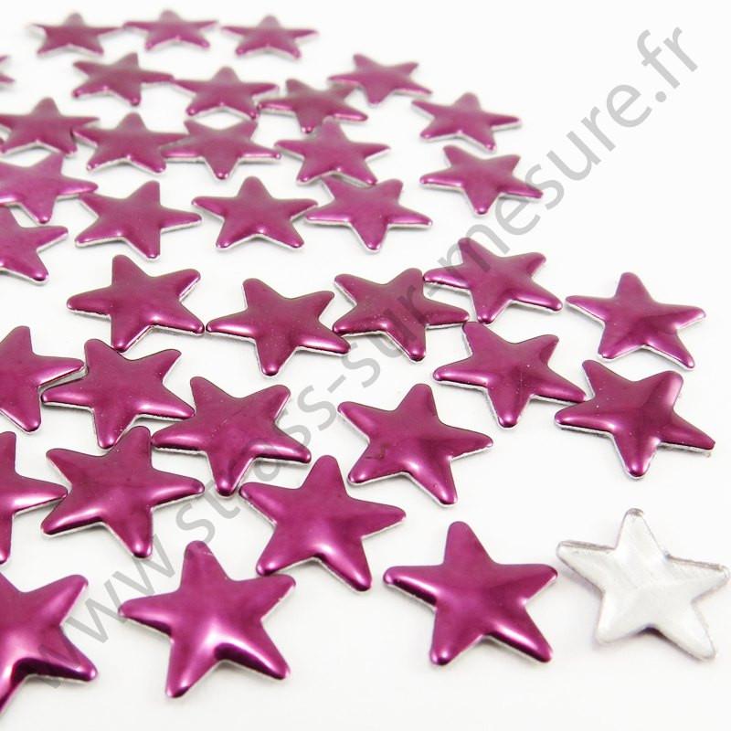 Strass thermocollant en métal étoile - Aubergine