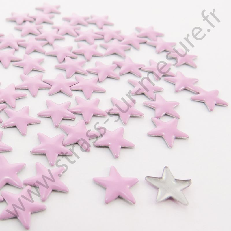 Strass thermocollant en métal étoile - Rose clair