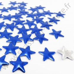 Strass thermocollant en métal étoile - Bleu royal