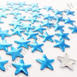 Strass thermocollant en métal étoile - Bleu