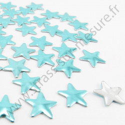 Strass thermocollant en métal étoile - Bleu lagon