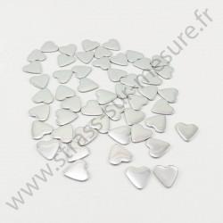 Strass thermocollant en métal cœur - Argent