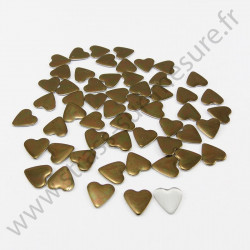 Strass thermocollant en métal cœur - Marron