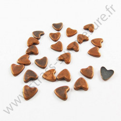 Strass thermocollant en métal cœur - Bronze vieilli