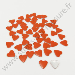 Strass thermocollant en métal cœur - Orange