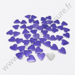 Strass thermocollant en métal cœur - Violet