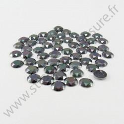 Strass thermocollant en métal à facettes - Gris