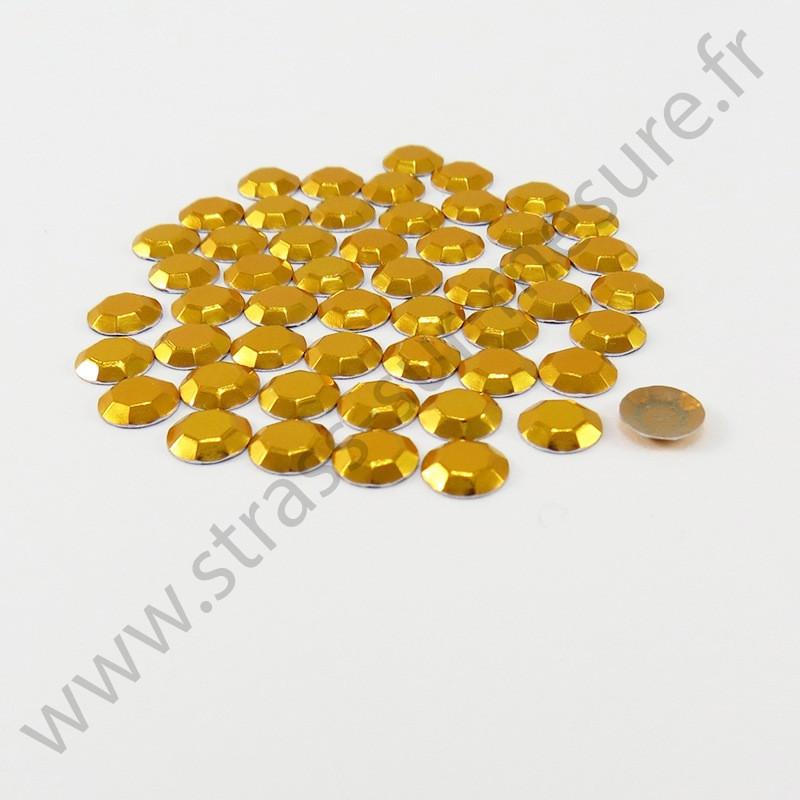 Strass thermocollant en métal à facettes - Doré
