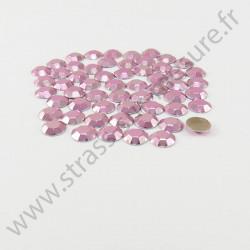 Strass thermocollant en métal à facettes - Rose