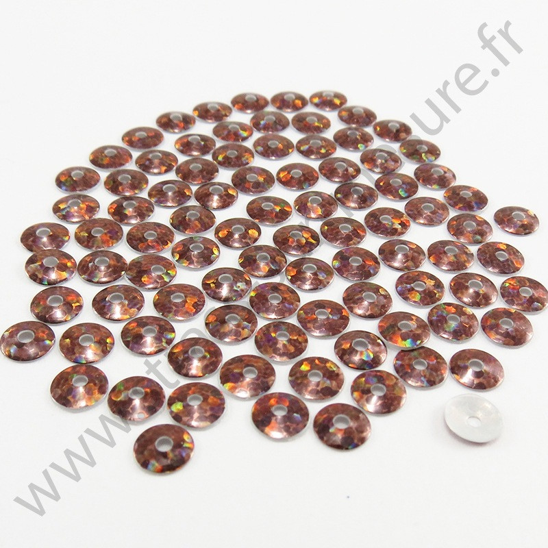 Sequin thermocollant - Marron hologramme
