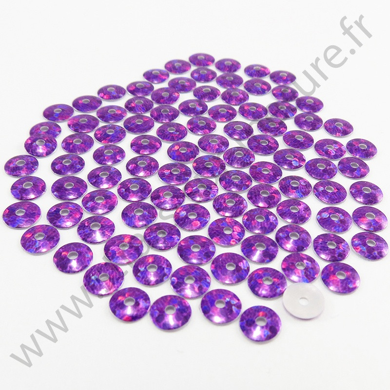 Sequin thermocollant - Violet hologramme