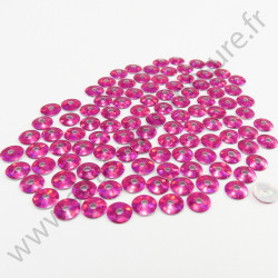 Sequin thermocollant - Rose fuchsia hologramme