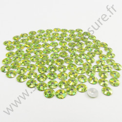 Sequin thermocollant - Vert pomme hologramme