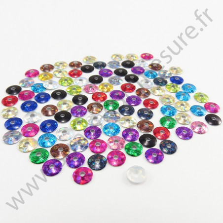 Sequin thermocollant - Multicolore hologramme